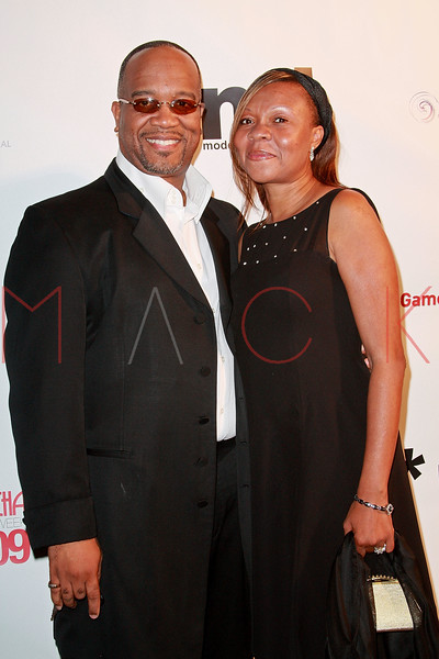 """NEW YORK - SEPTEMBER 08:  Reverend Alvin Freeland and Sabring Fulch attend Models International Agency's """"Return Of The Supermodel"""" at the Campton Gallery on September 8, 2009 in New York City.  (Photo by Steve Mack/S.D. Mack Pictures) *** Local Caption *** Alvin Freeland; Sabring Fulch"""