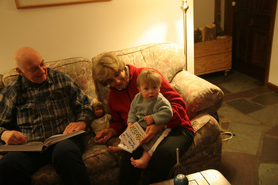I like to read with Great Grandma and Grandpa