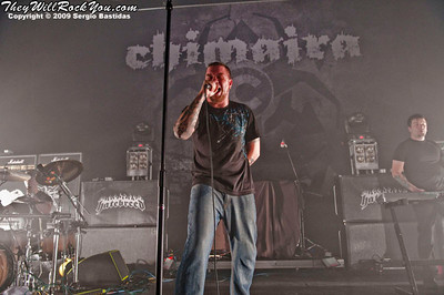 Chimaira playing on the stage of The Ventura Majestic Theater on Monday night, Aug. 17, 2009 in Ventura, Calif. (Photo by Sergio Bastidas/Sini69 Photography, ©2009)