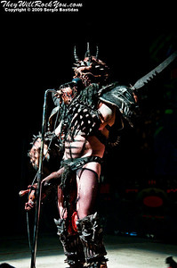 Gwar perform on the stage of the Ventura Majestic Theatre on Wednesday night,  Nov. 18, 2009 in Ventura, Calif. (Photo by Sergio Bastidas/Brooks Institute, ©2009)