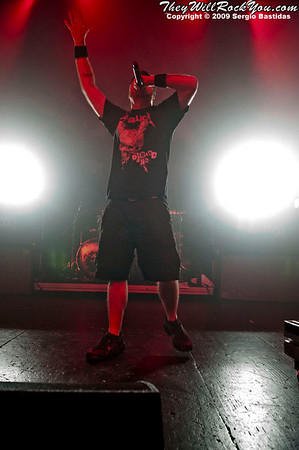 Hatebreed live on the stage of The Ventura Majestic Theater on Aug. 17, 2009 in Ventura, Calif. (Photo by Sergio Bastidas/Sini69 Photography, ©2009)
