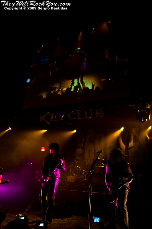 The 69 Eyes on stage at the Key Club on Sunset Blvd in West Hollywood, Calif., on Tuesday night, Oct. 6, 2009. (Photo by Sergio Bastidas/Brooks Institute, 2009©)