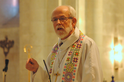 ELCA Presiding Bishop Mark Hanson delivered the sermon Jan. 11 at the Lutheran Church of the Redeemer, Jerusalem, during the Bishops' Academy.