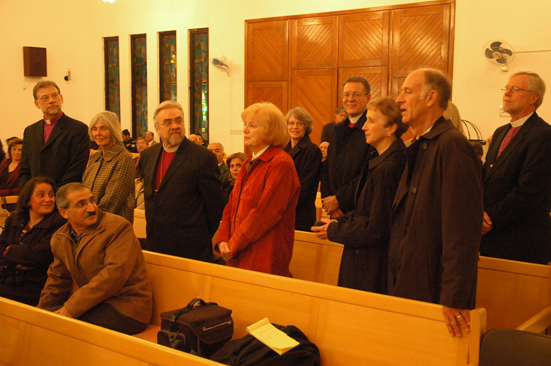 The ELCA bishops introduced themselves to the congregation Jan. 4 at Good Shepherd Evangelical Lutheran Church, Amman.