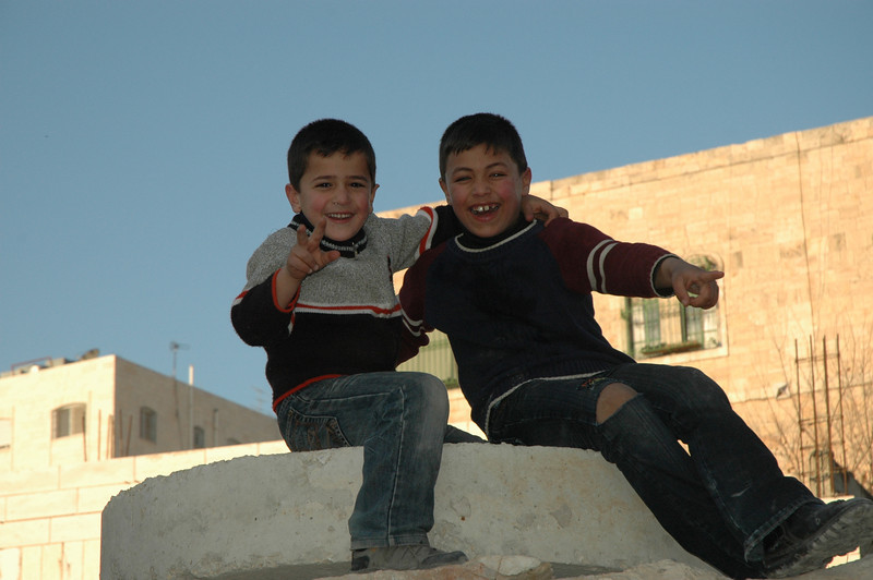 While touring Hebron, the North American bishops encountered these two Palestinian boys.