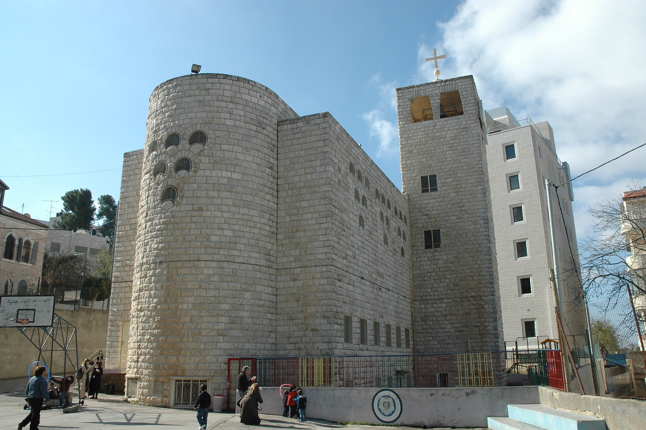 Evangelical Lutheran Church of Hope, Ramallah, also houses the Evangelical School of Hope.