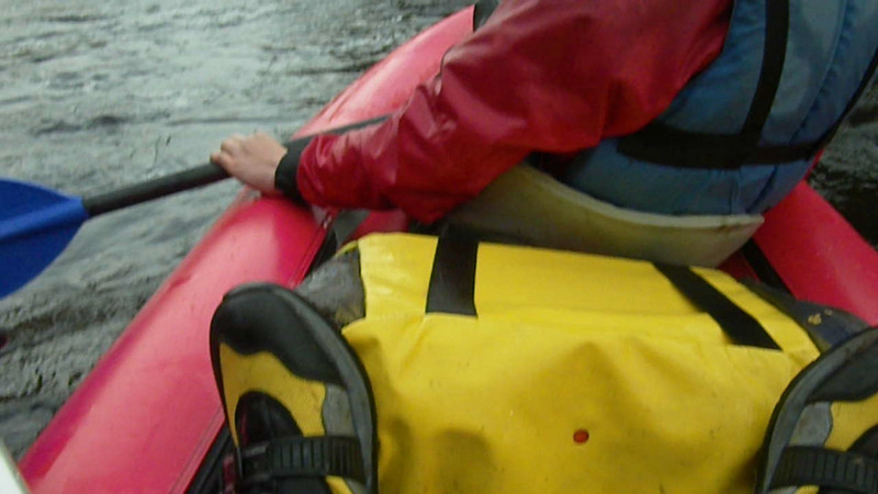 Canoeing on the lower gorge of the River Findhorn with Ace Adventures
