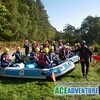 Family Rafting on the River Spey with Ace Adventures.