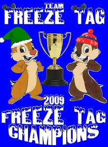 "Team 112: Freeze-Tag [""We thought it would be a good fit since winter/freeze go together. And the first Reindeer Game we thought of was Freeze Tag. So, short story long.... here it is!""]"