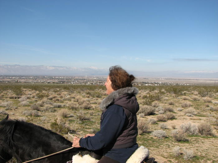 Desert ride with Ridgecrest in the background.