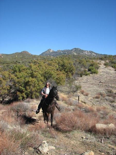 Trail riding at Warner Springs, temp 70 degrees....