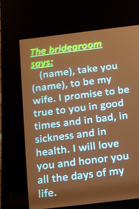 The bridegrooms vowed to be true in good times and in bad...