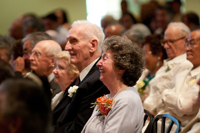 How many couples had been married 61-65 years? There were about 10.  And 65 plus, there were 2!