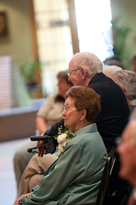 Fr. Peter asked, how many couples had been married 50-55 years? There were about 25.
