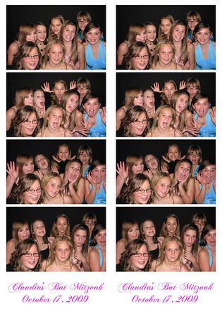 Claudia's Bat Mitzvah October 17, 2009