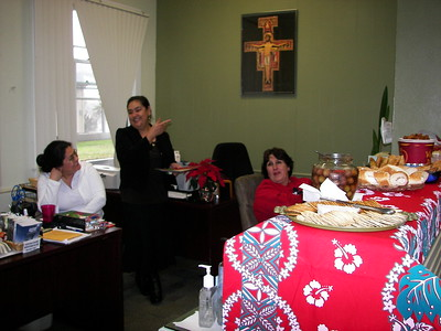 Elena and Maricella, our Parish Receptionist, share a happy moment.