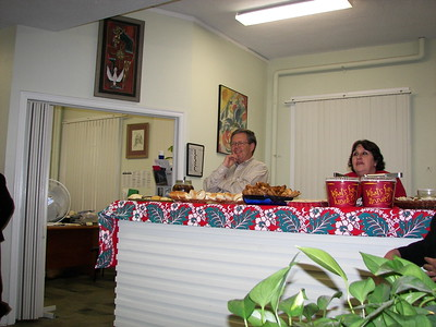 Allen, our Business Manager and Carmen, Social Concerns Director, watch the decorating.