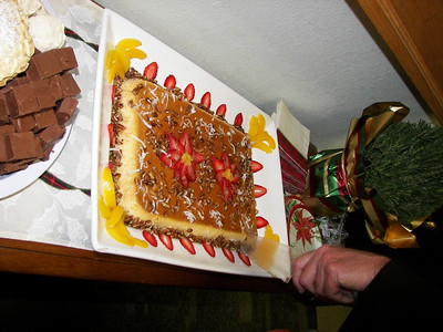 This flan was so beautiful, and much appreciated by the parish staff.
