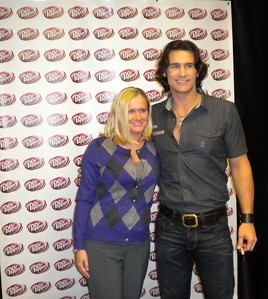 Membership Coordinator, Kimmy Livingston, with Country Music Singer Joe Nichols
