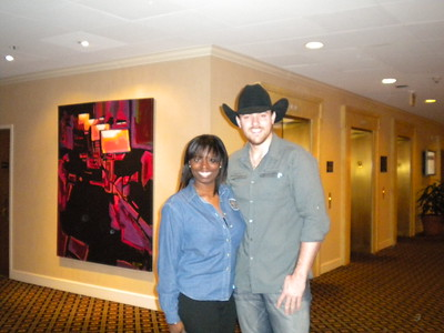 Meeting & Chapter Administrator, Tabitha Truscott, with Country Music Singer Chris Young