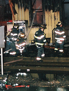Photo,s from the 3rd alarm Anderson Ave.  TRAIN STATION fire in Hackensack  1-10-09