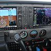 Instrument panel, flying from Des Moines to Wichita.