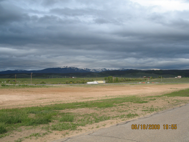 The skies above the Granby airport when we arrived on Thursday late afternoon.  Photo by Connie