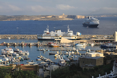 Port of the Island of Gozo.