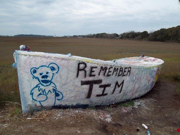 photo: n. nisky<br /> If you knew him, you loved him. Keep on truckin Tim.