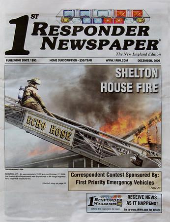 1st Responder Newspaper (FRONT PAGE) December 2009