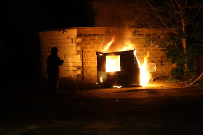 Dumpster Fire Waltham Ma. Box 14 On Cherry Street 05/20/09