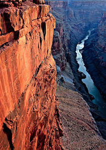 Sunrise on the Colorado River from Toroweap Overlook Grand Canyon, Arizona