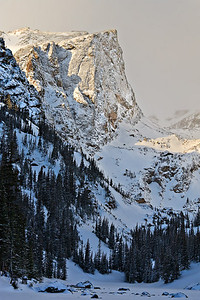 Hallet Peak from Dream Lake - early morning light - Feb 2009 Rocky Mtn. National Park, Colorado