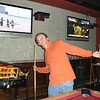 Xavier Thibaud busting a move during a game of pool at The Palace Saloon.