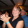Christine Cragg, of La Petanque Mariniere, enjoying the moment at the tournament awards dinner at Sandy Bottoms.