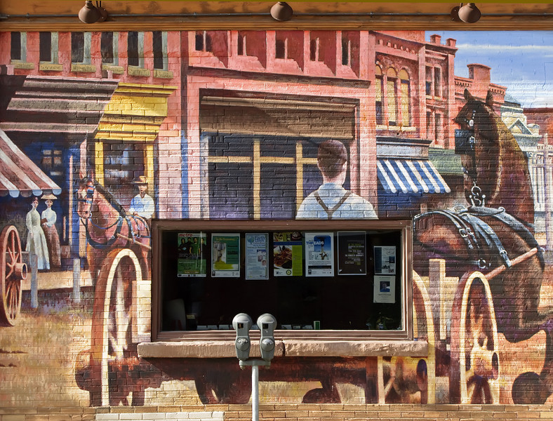 Collingwood Murals #4. Early 1900's Streetscape