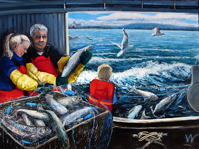 Collingwood Murals #1 - Fishing in the Harbour