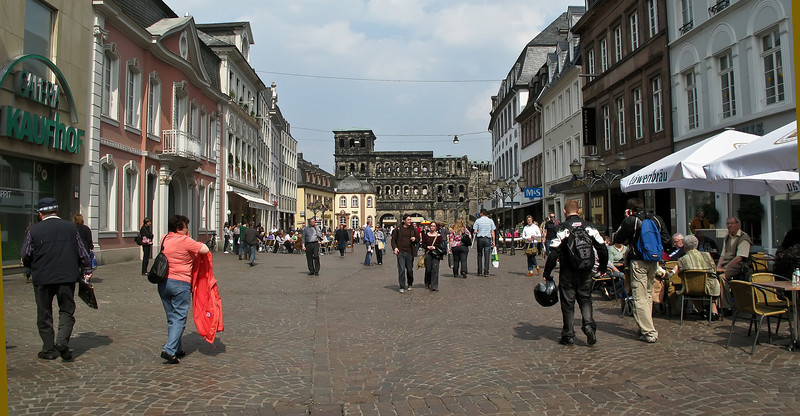 Trier, Germany - happy coexistence of the old and the new