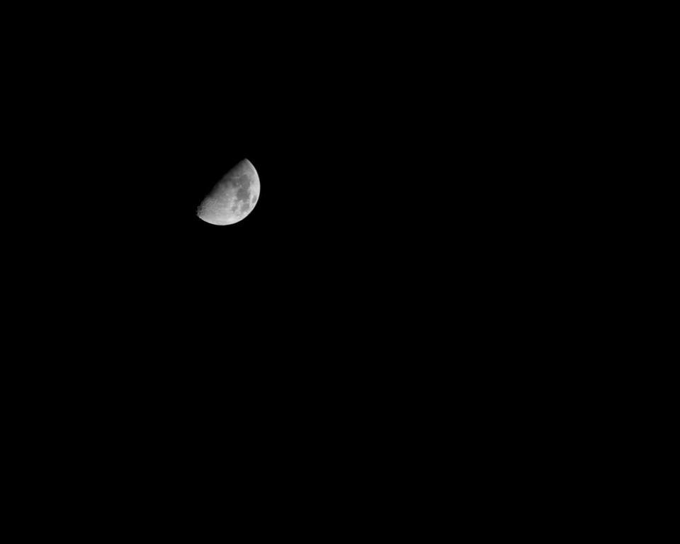 Moon on a starless night