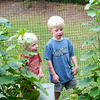 Tace and Cail in garden on July 24, 2009