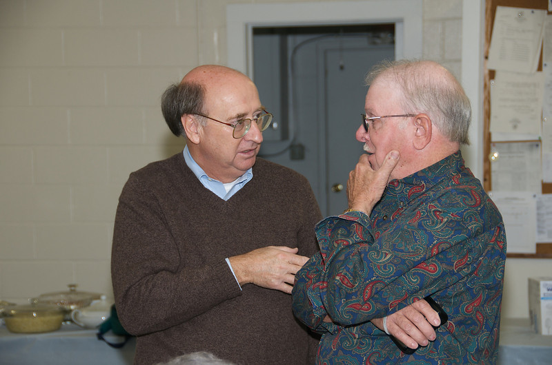 Nixon family reunion held on Nov. 8, 2009 at the Rocky Hock rescue squard building in Chowan County. Calvin Parrish (L) and Paul Nixon.