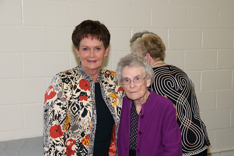 Nixon family reunion held on Nov. 8, 2009 at the Rocky Hock rescue squard building in Chowan County. Rebecca Sawyer (L) and Elsie Bunch.
