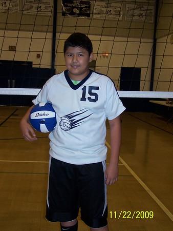 2009-11-22 Boys Volleyball Team