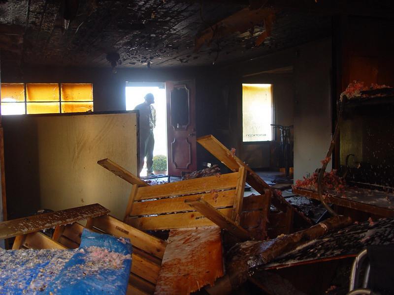 The Bionicon Demo Center's interior suffered major damage.