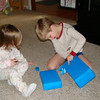 Aidan opening his gifts from us.