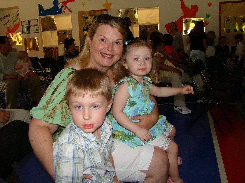 Nan Nut with the kids at Aidan's graduation.