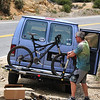 Hans, loading an unwilling El Guapo on the the van.<br /> <br /> Quitter.