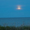 Moon rising over the ocean at our cottage