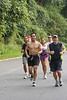 First Time Marathon Program Grosvenor to Union Station point to point run near Pierce Mill in Washington DC. Popsicle Break. -- Photo by Ken Trombatore