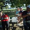 Water stop at Old Town run<br /> Photo by Dave Eubanks